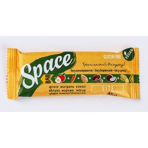 SPACE BAR, Натуральный батончик Lite, 45г