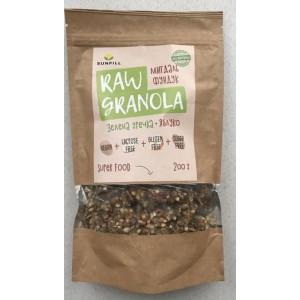 SUNFILL, 100% натуральная  RAWGranola Миндаль-Фундук, 200г