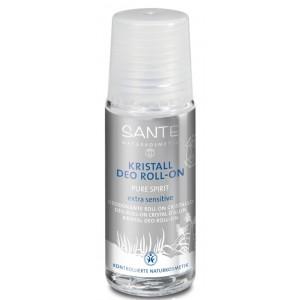 Sante, БИО-Дезодорант роликовый Crystal для сверхчувствительной кожи  неароматизированный, 50 мл