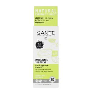 Sante, БИО-Крем матирующий для лица 24ч-баланс Грейпфрут, 50мл