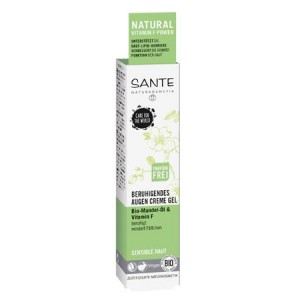 Sante, БИО-Крем-гель вокруг глаз успокаивающий для чувствительной кожи Миндаль и витамин F, 15мл