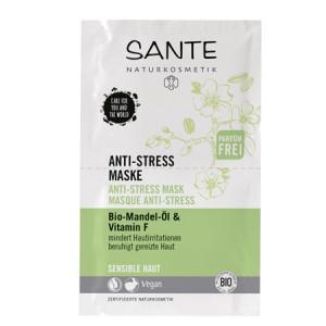 Sante, БИО-Маска успокаивающая для чувствительной кожи лица Миндаль и витамин F , 2*4мл