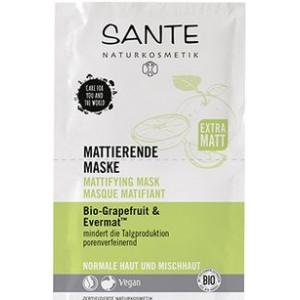 Sante, БИО-Маска для лица матирующая Грейпфрут,  2*4мл
