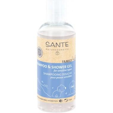 Sante, БИО-Шампунь для волос и тела FAMILY KIDS Sensitive, 200мл