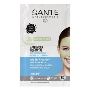 Sante, БИО-Гель-маска After-Work от следов усталости на лице, 2*4мл