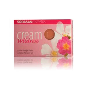 Sodasan, Organic Мыло-крем Wild roses для лица с маслами Ши и Диких роз 100 г