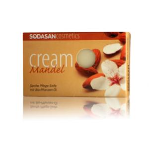 Sodasan, Organic Мыло-крем Almond для лица с маслами Ши и Миндаля 100 г