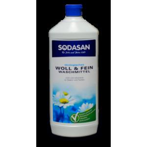 Sodasan, Organic Жидкое средство-концентрат Woolen Wash для  стирки шерсти, шелка и деликатных тканей, 1 л = 33 стирки