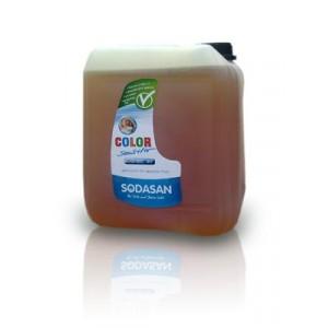 Sodasan, Organic Жидкое средство Color-sensitiv для чувствительной кожи и для ДЕТСКОГО белья, для стирки цветных и белых вещей при любых температурах (от 30°), 5л