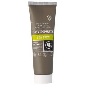 Urtekram, Органическая зубная паста Чайное дерево, 75 мл (сертифицирована Экосерт) - Без Фтора!