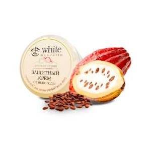 White Mandarin, Дитячий захисний крем від негоди на основі бджолиного воску, воску рисових висівок, олії манго Білий Мандарин, 50 мл
