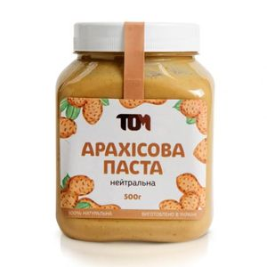 ТОМ, 100% натуральное арахисовое масло НЕЙТРАЛЬНОЕ, 500 г