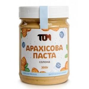 ТОМ, 100% натуральное арахисовое масло СОЛЕНОЕ, 300 г