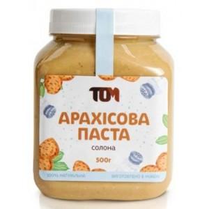 ТОМ, 100% натуральное арахисовое масло СОЛЕНОЕ, 500 г