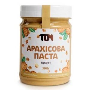 ТОМ, 100% натуральное арахисовое масло КРАНЧ, 300 г