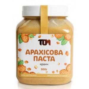 ТОМ, 100% натуральное арахисовое масло КРАНЧ, 500 г