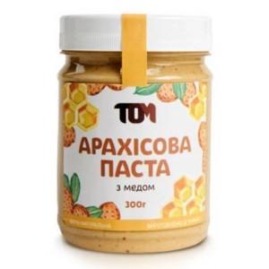 ТОМ, 100% натуральное арахисовое масло С МЕДОМ, 300 г