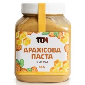 ТОМ, 100% натуральное арахисовое масло С МЕДОМ, 500 г