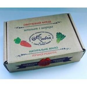Амбра, 100% Натуральное Крем-мыло Овощной Фреш, 100 гр