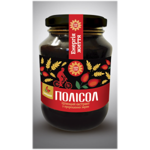 ПОЛИСОЛ, Целебный экстракт из пророщенных зерен С ШИПОВНИКОМ (Витаминно-минеральный комплекс), 400 мл
