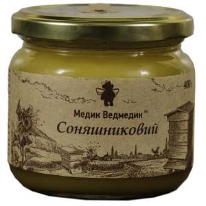 МЕДИК-ВЕДМЕДИК, Натуральный мед ПОДСОЛНЕЧНИКОВЫЙ, 400г