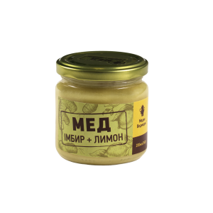 МЕДИК-ВЕДМЕДИК, Натуральный мед с лимоном и имбирем, 250 гр