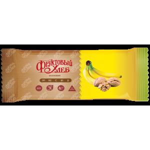 Батончик Фруктовый хлеб, БАНАНОВЫЙ, без сахара, 60г