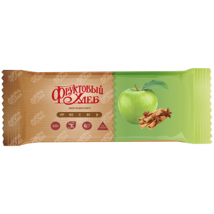 Батончик Фруктовый хлеб, ЯБЛОЧНЫЙ ПИРОГ, без сахара, 60г