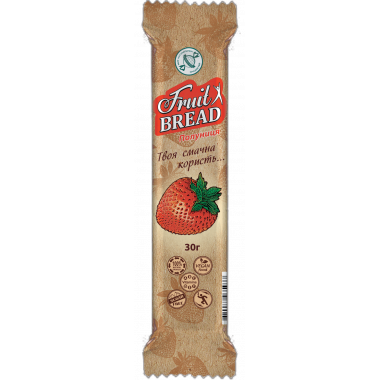 Конфета Фруктовый хлеб КЛУБНИКА, без сахара, 30г