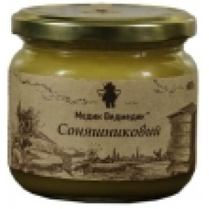 МЕДИК-ВЕДМЕДИК, Натуральный мед ПОДСОЛНЕЧНИКОВЫЙ, 250г