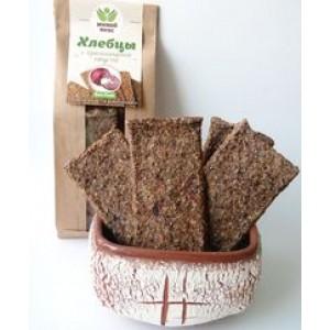 Живой вкус, 100% натуральные Хлебцы с краснокачанной капустой, 100 г