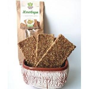 Живой вкус, 100% натуральные Хлебцы с проростками гречки, 100 г