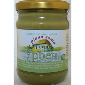 УРБЕЧ, Натуральна паста з насіння гарбуза, 250г