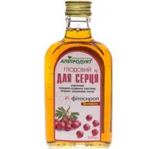 Боярышниковый фитосироп с медом 100% натуральный ДЛЯ СЕРДЦА, 200 мл