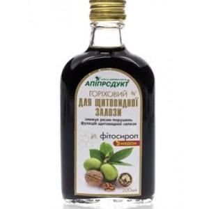 Горіховий фітосироп з медом для щитовидної залози, 100% натуральний продукт, 200 мл