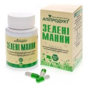 ЗЕЛЕНІ манни - збагачена квітковий пилок, 100% натуральний продукт, 60 капсул по 0,5 г