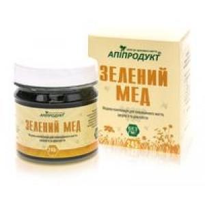 ЗЕЛЕНИЙ МЕД - медова суміш з спіруліна, 100% натуральний продукт, 245 г
