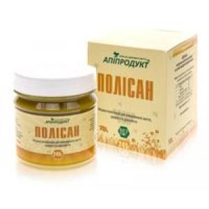 ПОЛИСАН - густая вытяжка прополиса, цветочная пыльца в натуральном меде, 100% натуральный продукт, 245 г