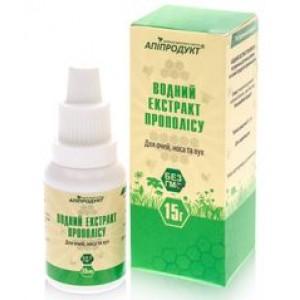 ЕКСТРАКТ ПРОПОЛИСА водний Для очей, носа і вух, 100% натуральний продукт, 15 мл