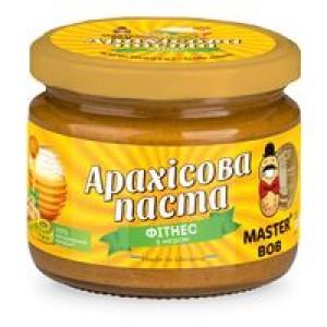 МАЙСТЕР БОБ, Натуральна арахісова паста ФИТНЕС без цукру, 300г
