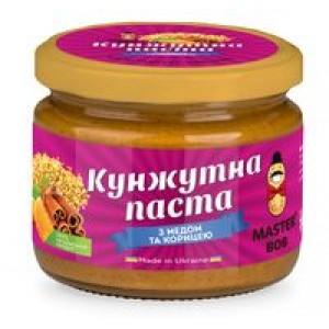 МАЙСТЕР БОБ, Натуральна кунжутове паста з медом і корицею, 200г