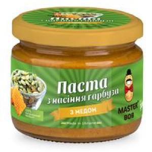 МАЙСТЕР БОБ, Натуральна паста з насіння гарбуза з медом, 300г