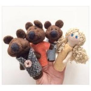 Пальчикова казка «Три ведмеді», 4 персонажі
