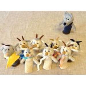 Казка «Вовк та семеро козенят», 9 персонажів