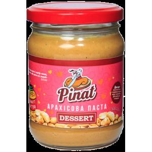 ТМ ПІНАТ, Натуральная арахисовая паста ДЕСЕРТ в стеклянной банке, 250г