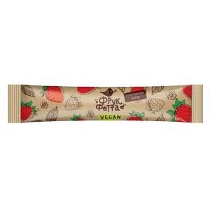 ФрукФетта, Настоящая 100% натуральная Фруктовая пастила-конфета КЛУБНИКА с тростниковым сахаром, 20 г