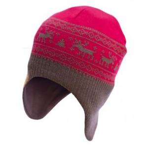 СОФИЯ, Вязаная шапочка-шлем из 100% шерсти